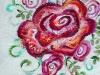 23. 赤い大きな薔薇Ⅲ(太鼓部分)