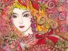 蜷川有紀  yuki ninagawa ワコール・ユトリエ表紙画刺 錦繍