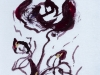 Drawing Brown rambling roses 2018-I