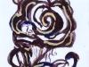Drawing Brown rose 2018-II